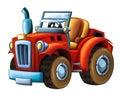 Cartoon farm tractor -