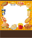Cartoon fast food card Royalty Free Stock Image