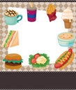 Cartoon fast-food card Royalty Free Stock Photos