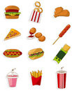 Cartoon fast food icon Stock Photo