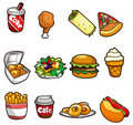 Cartoon fast food icon Royalty Free Stock Photography