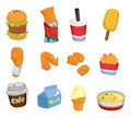 Cartoon fast food icon Stock Images