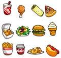 Cartoon fastfood icon