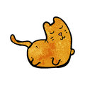 Cartoon fat cat Royalty Free Stock Images