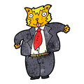Cartoon fat cat businessman Royalty Free Stock Photography