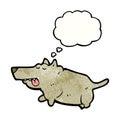 cartoon fat dog Royalty Free Stock Photo