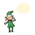 Cartoon female christmas elf Royalty Free Stock Photography