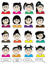 Cartoon Female Set_eps Royalty Free Stock Photo
