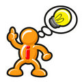 Cartoon Figure and Idea Bubble Royalty Free Stock Photo