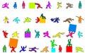 Cartoon figures Royalty Free Stock Photo
