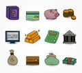 Cartoon Finance & Money Icon set Stock Photography