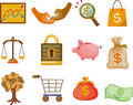 Cartoon Finance & Money Icon set Royalty Free Stock Photography