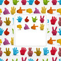 Cartoon finger card Stock Image