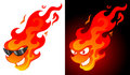 Cartoon fire Stock Images