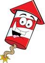 Cartoon firecracker Royalty Free Stock Photo