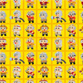 Cartoon Fireman seamless pattern Stock Image