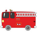 Cartoon firetruck Stock Photos