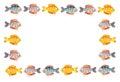 Cartoon fish frame Royalty Free Stock Photo