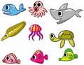 Cartoon fish icon Royalty Free Stock Images