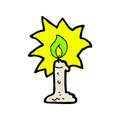 cartoon flaming candle Royalty Free Stock Photo