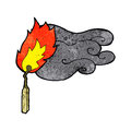 cartoon flaming match Royalty Free Stock Photo