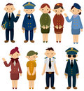 Cartoon flight attendant/pilot icon Royalty Free Stock Photos
