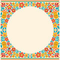 Cartoon floral border no transparency and gradients used Royalty Free Stock Images