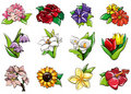 Cartoon flower icon Royalty Free Stock Images