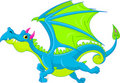 Cartoon flying dragon Stock Photography