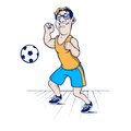 Cartoon football man character Royalty Free Stock Image