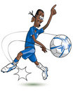 Cartoon Football player Stock Photography