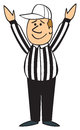 Cartoon Football Referee Touchdown Stock Images