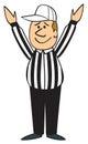 Cartoon Football Referee Touchdown Royalty Free Stock Photo