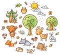 Cartoon Forest Set