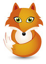 Cartoon fox animal theme illustration Stock Photography