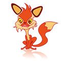 Cartoon fox in a sitting position illustration of very cute Royalty Free Stock Images
