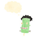 Cartoon frankenstein monster head Royalty Free Stock Images