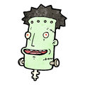 Cartoon frankenstein monster,head Royalty Free Stock Photo