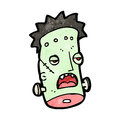 Cartoon frankenstein monster,head Royalty Free Stock Photos