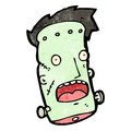 Cartoon frankenstein monster,head Stock Photos
