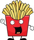 Cartoon french fries happy illustration of with a expression Royalty Free Stock Photos