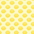 Cartoon fresh lemon fruits in flat style seamless pattern food summer design vector illustration.