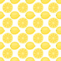 Cartoon fresh lemon fruits in flat style seamless pattern food summer design vector illustration.