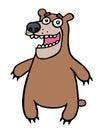 Cartoon friendly bear. Vector illustration.