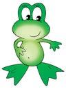 Cartoon frog Stock Images