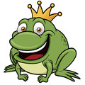 Cartoon frog prince vector illustration of Stock Images