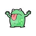 Cartoon frog retro with texture isolated on white Stock Photos