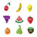 Cartoon fruit characters Royalty Free Stock Photo
