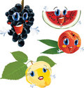 Cartoon fruits Stock Photo