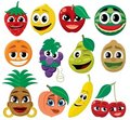 Cartoon Fruits Royalty Free Stock Image